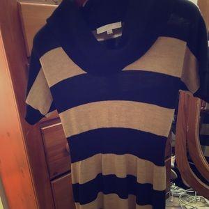 LOFT cow neck sweater dress